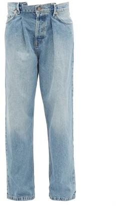 Raey Fold Dad Baggy Boyfriend Jeans - Womens - Light Blue