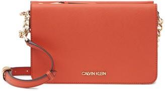Calvin Klein Hayden Saffiano Leather Crossbody Bag
