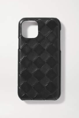 Bottega Veneta Intrecciato Textured-leather Iphone 11 Pro Case - Black