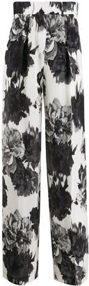 Alexandre Vauthier Floral Wide Leg Trousers