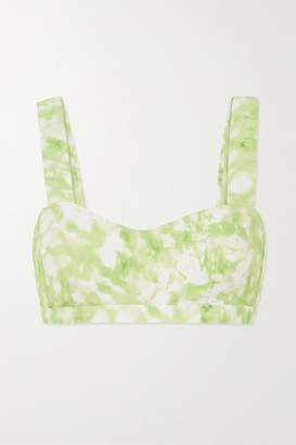 Faithfull The Brand Net Sustain Provence Tie-dyed Bikini Top - Lime green