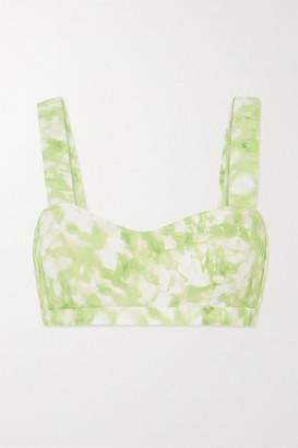 Faithfull The Brand Provence Tie-dyed Bikini Top - Lime green
