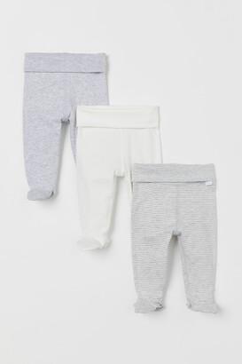 H&M 3-pack Leggings - Gray