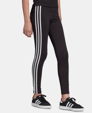 adidas Big Girls 3-Stripes Leggings