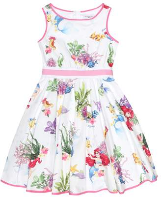 MonnaLisa Printed cotton poplin dress