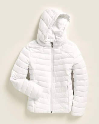 Spyder Girls 7-16) White Hooded Full-Zip Jacket