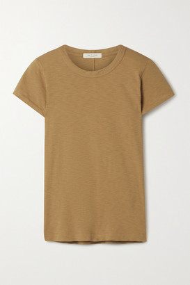 Rag & Bone The Tee Organic Pima Cotton-jersey T-shirt - Mustard