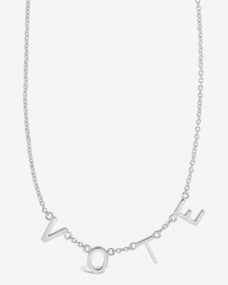Express Sterling Forever Vote Charm Necklace