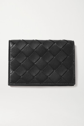Bottega Veneta Intrecciato Leather Wallet - Black