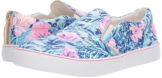 Lilly Pulitzer Julie Sneaker (Lapis Lazuli Beach Club Blooms) Women's Slip on Shoes