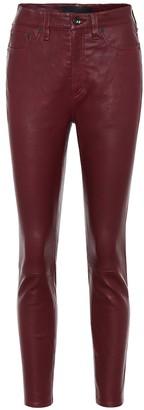 Rag & Bone Nina mid-rise leather pants