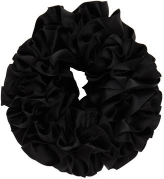 Maryam Nassir Zadeh Black Carnation Scrunchie