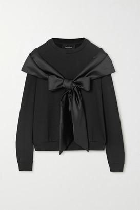 Simone Rocha Bow-detailed Stretch-jersey Sweater - Black