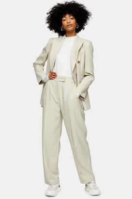 Topshop Marl Slouch Suit Pants