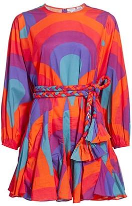 Rhode Resort Ella Abstract Braided Belt Dress