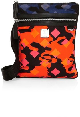 MCM Dieter Munich Lion Camo Nylon Crossbody Bag