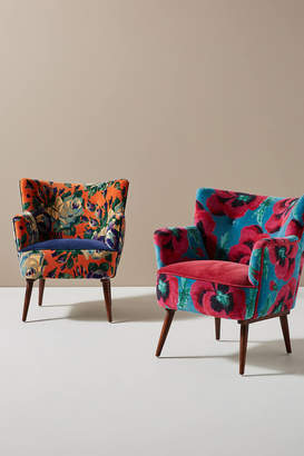 Anthropologie Velvet Tanya Petite Accent Chair
