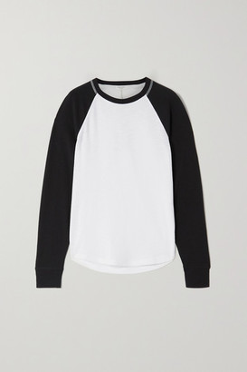 Rag & Bone Two-tone Ribbed Cotton-blend Jersey Top - White