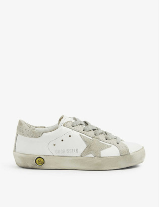 Golden Goose Superstar A5 leather trainers 6-9 years