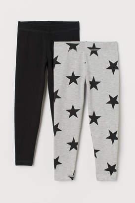 H&M 2-pack Leggings - Black
