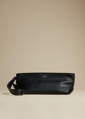 KHAITE The Alma Wristlet in Black Leather