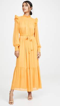 ENGLISH FACTORY Swiss Dot Smocked Maxi Dress