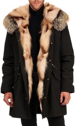 Gorski Men's Fox Fur Trim Parka