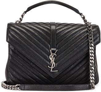 Saint Laurent Large College Monogramme Bag in Black | FWRD