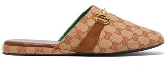 Gucci Percile Horsebit Gg-jacquard Loafers - Mens - Beige