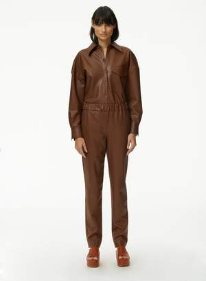 Tibi Faux Leather Pull On Pant