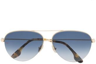 Victoria Beckham Classic Victoria aviator-frame sunglasses