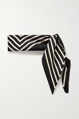 Lescarf lescarf - No. 16 Striped Silk-twill Scarf - Black