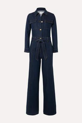 Frame Vintage Belted Denim Jumpsuit - Dark denim