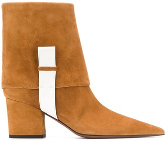 L'Autre Chose textured colour block boots