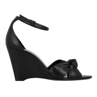 Saint Laurent Wedge Sandal In Real Leather