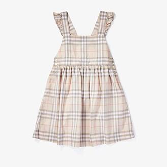BURBERRY KIDS Livia Dress (Little Kids/Big Kids) (Pale Pink Apricot) Girl's Clothing