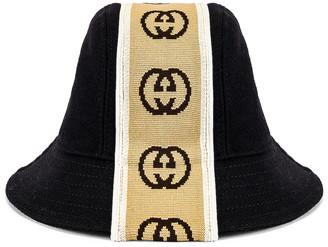 Gucci Bucket Hat in Black & Beige | FWRD