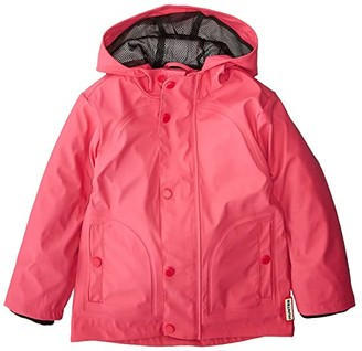 Hunter Original Lightweight Rubberized Jacket (Toddler/Little Kids) (Bright Pink) Girl's Coat