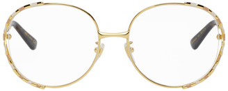 Gucci Gold Oversized Vintage Glasses