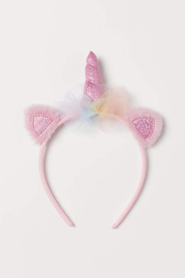 H&M Glittery Unicorn Hairband - Pink