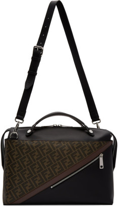 Fendi Black and Brown Forever By The Way Briefcase