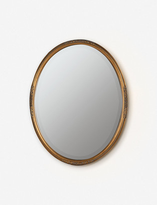 Lulu & Georgia Shiloh Oval Mirror, Antique Gold