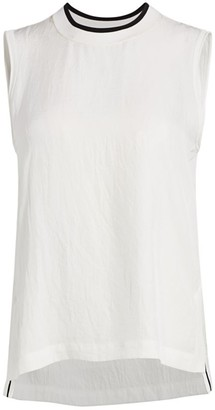 Rag & Bone Althea Crinkled Sleeveless Top