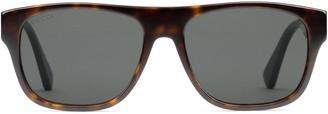 Gucci Rectangular-frame acetate sunglasses
