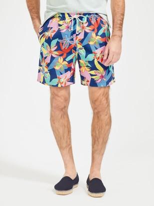 J.Mclaughlin Gibson Swim Trunks in Island Blossom