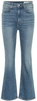Rag & Bone Nina high-rise cropped flared jeans