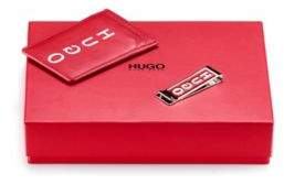 HUGO BOSS - Gift Boxed Card Holder And Money Clip Set - Dark Red