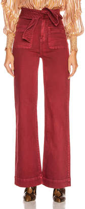 Ulla Johnson Wade Wide Leg Pant in Syrah | FWRD