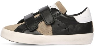 Philippe Model LEATHER & SUEDE STRAP SNEAKERS