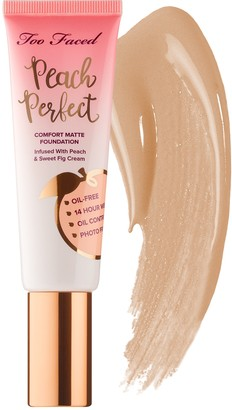 Too Faced Peach Perfect Comfort Matte Foundation Peaches and Cream Collection
